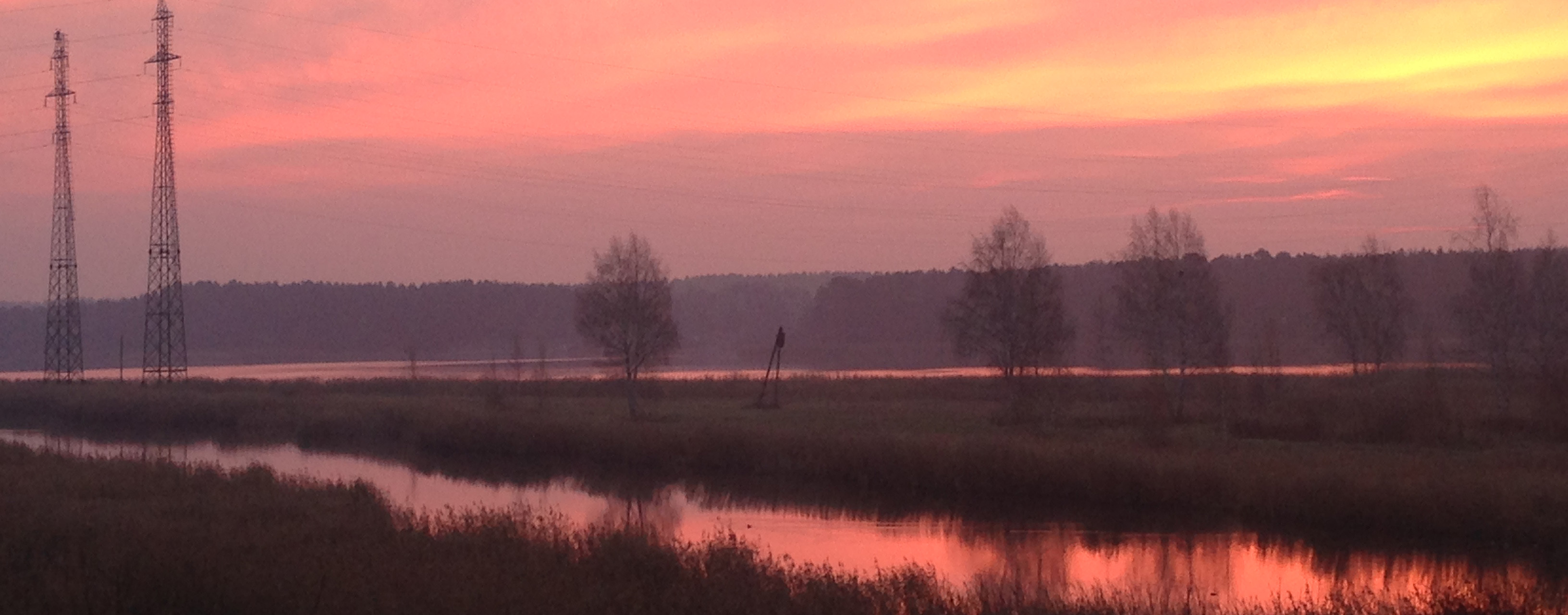 Закат на реке Лиелупе Прибалтика Альберт Сафиуллин