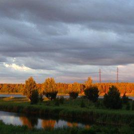 Закат в июле — перед грозой