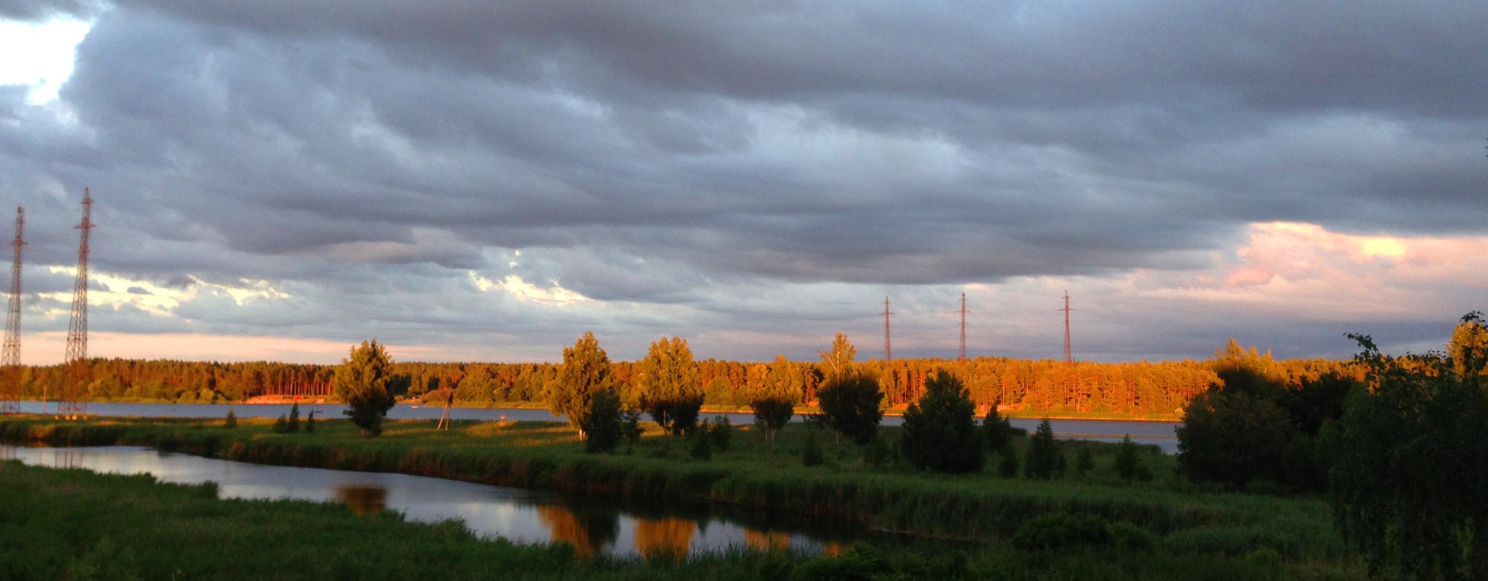 Природа в июле Летний речной пейзаж Альберт Сафиуллин