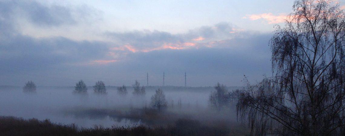 Июльский туман на рассвете. Большая Река.