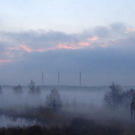 Природа в июле — туманный рассвет