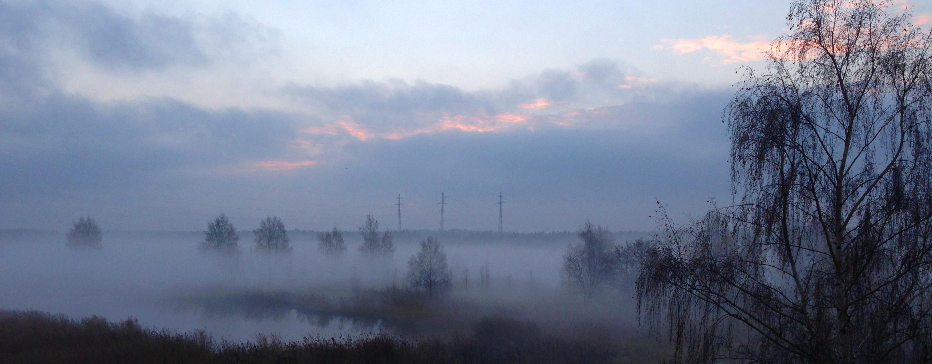 Июль туман на реке пейзажи природы Альберт Сафиуллин