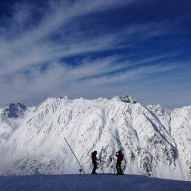 Двое в Альпах Горы Пейзажи природы Сафиуллин