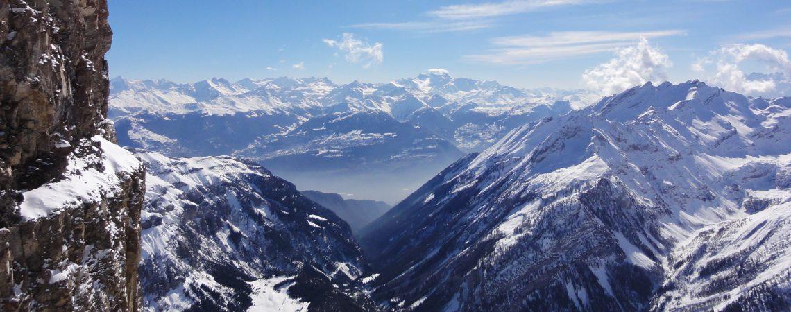 Альпы в Швейцарии.Панорама.
