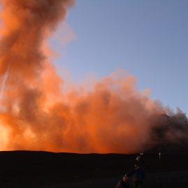 Вулкан Этна горный пейзаж извержение