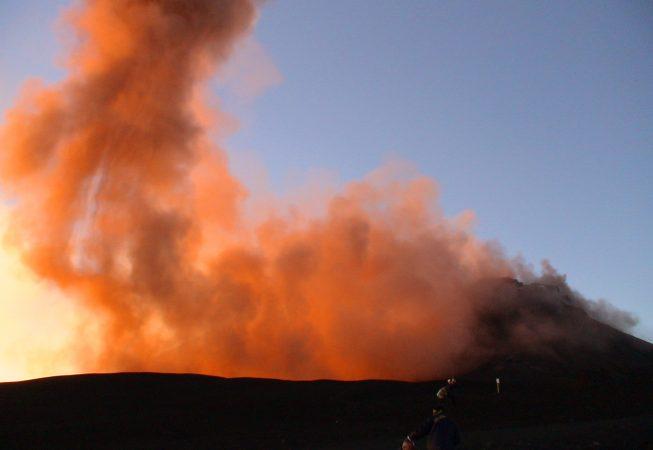 Началось извержение в южном кратере Этны