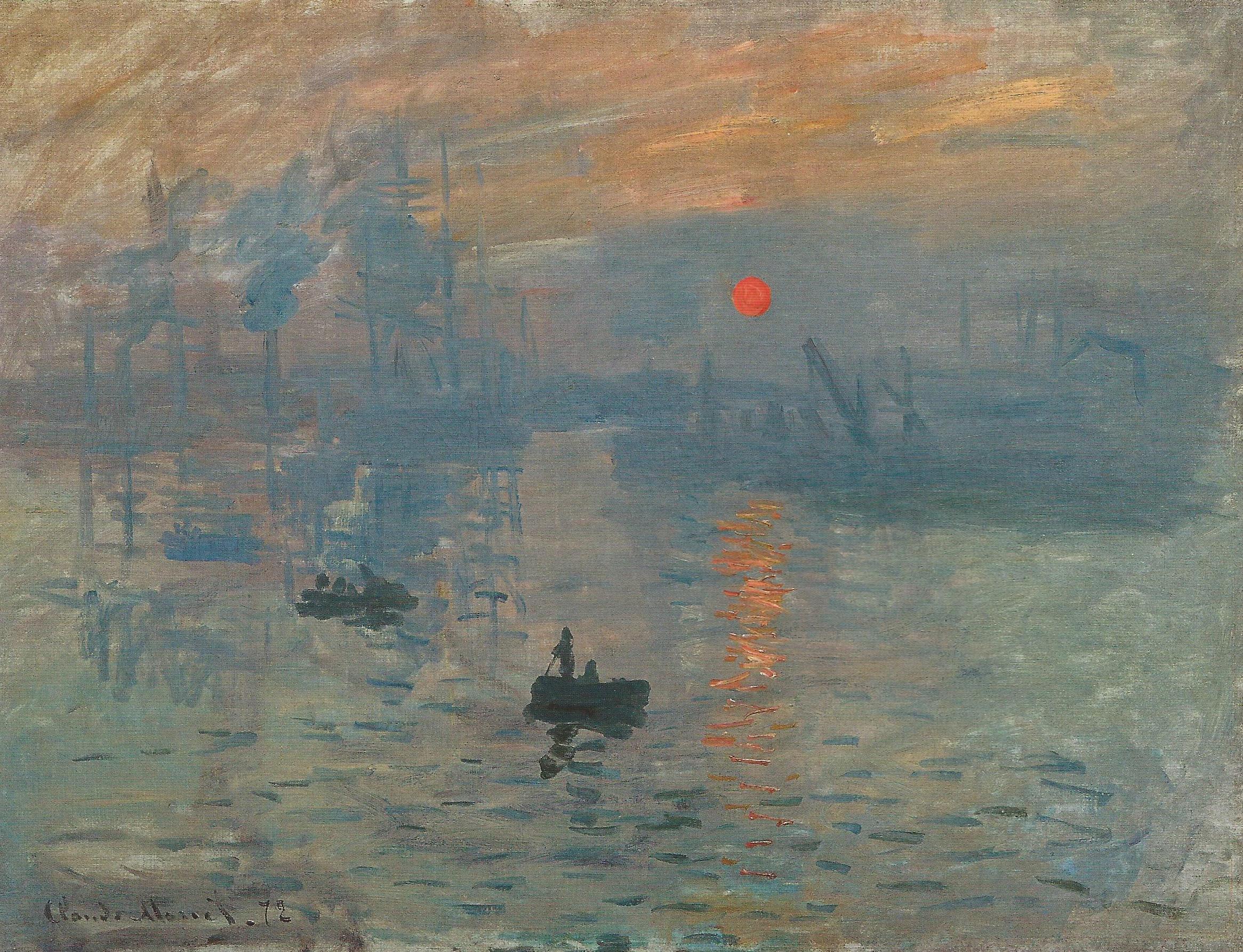 Клод Моне Впечатление Восход солнца пейзаж картина маслом