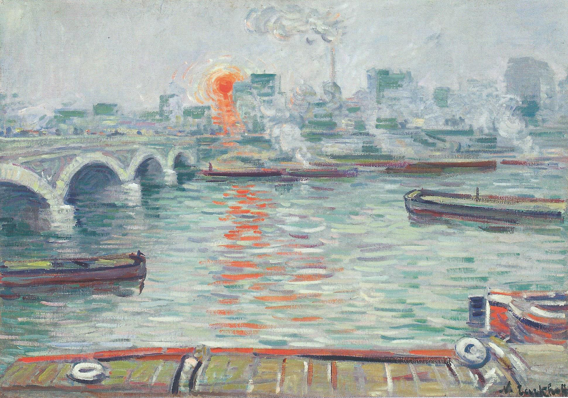 Николай Тархов Утро над водой пейзаж картина маслом