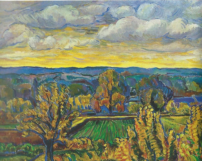 Николай Тархов Валле-де-Шеврез пейзаж картина маслом