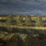 Речной пейзаж Перед грозой Картина маслом на холсте