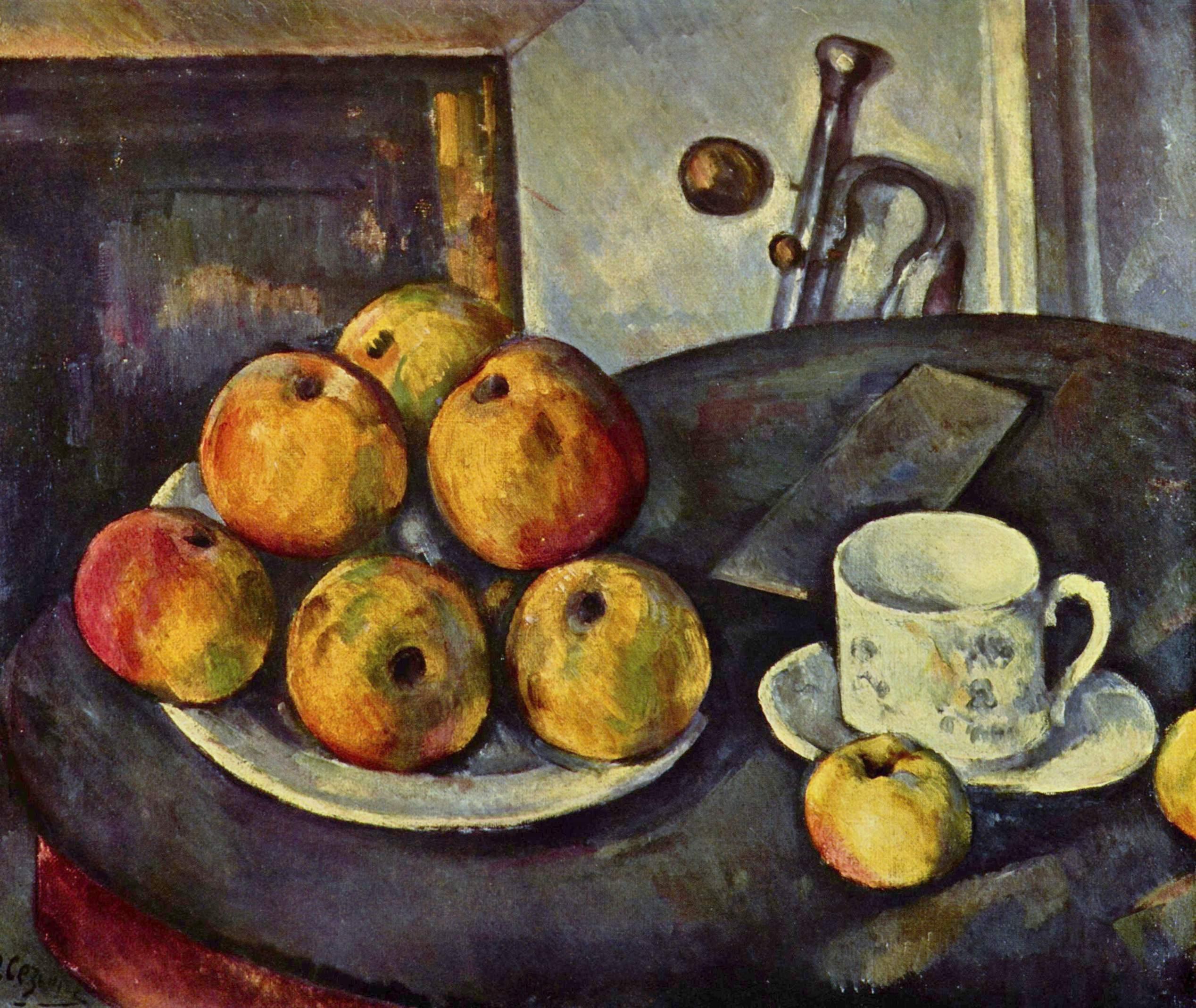 Поль Сезанн Натюрморт с яблоками 1894 год
