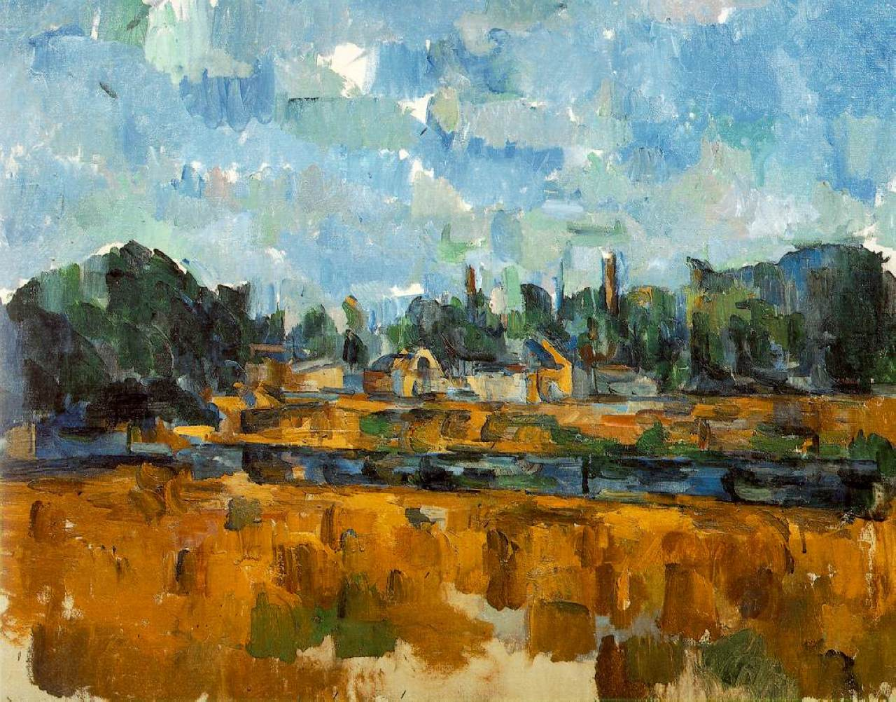 Поль Сезанн Речные берега пейзаж 1905 год