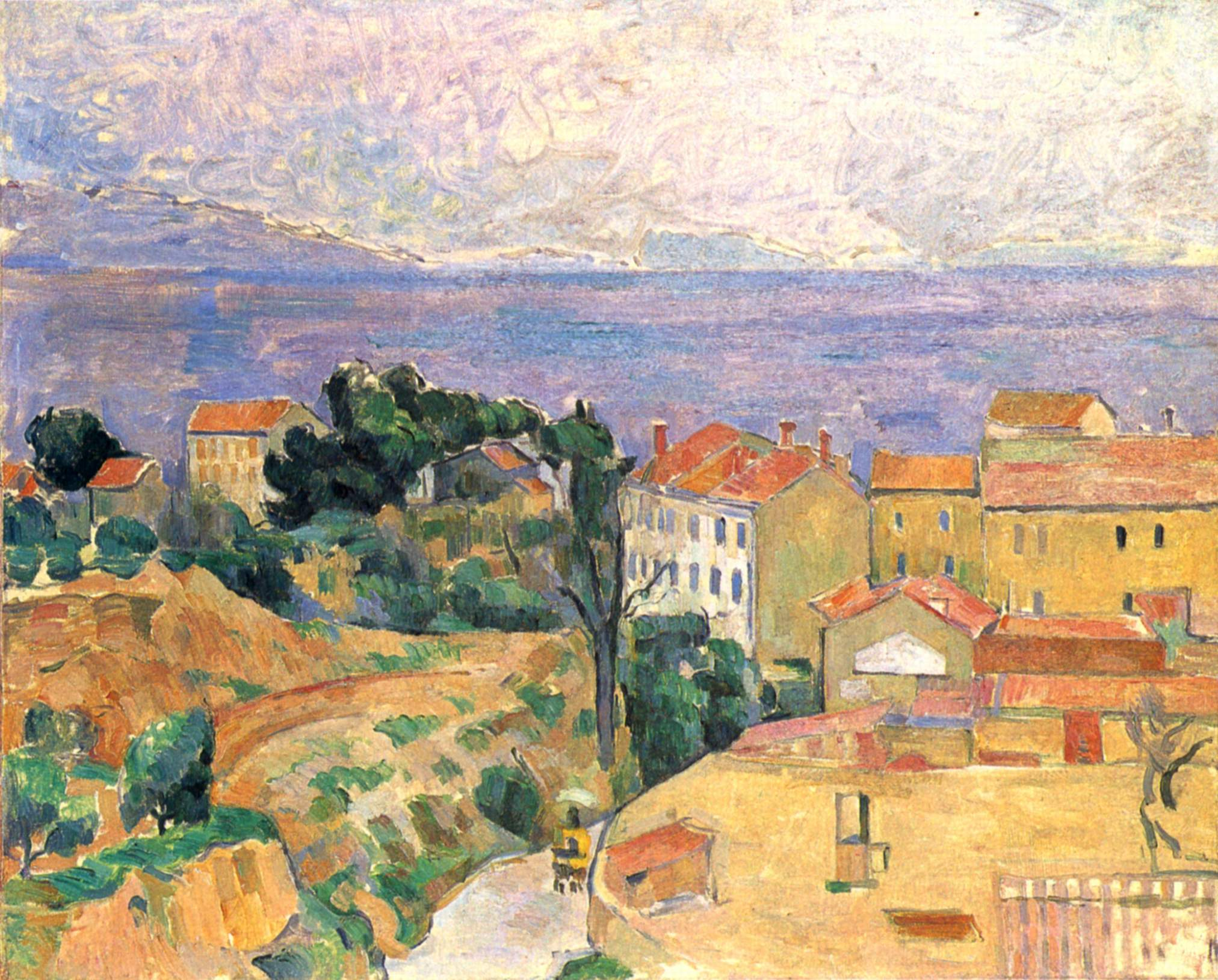 Поль Сезанн вид на Эстак пейзаж холст масло 1883 год