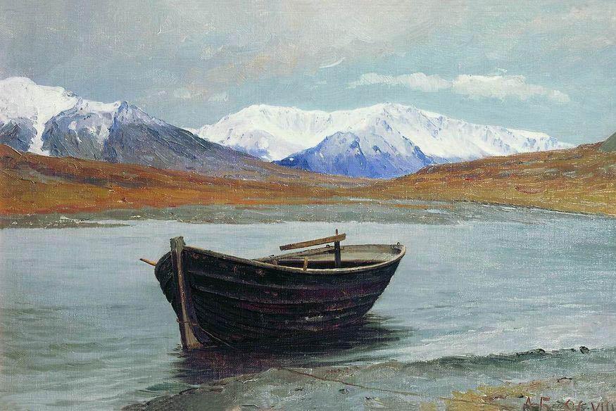 Алекандр Борисов картина Долина реки Маточки на Новой Земле пейзаж масло