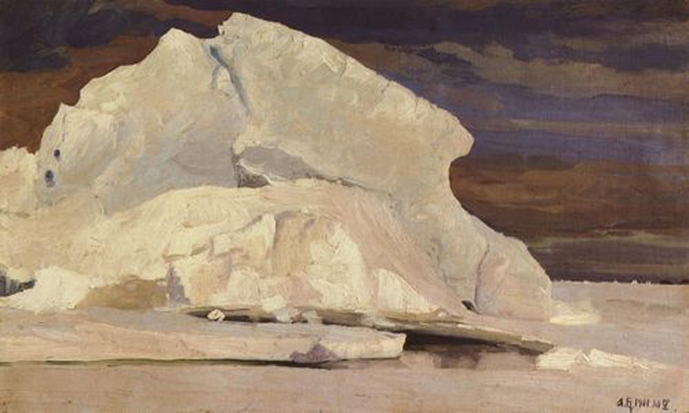 Александр Борисов картина Айсберг в Карском море пейзаж масло