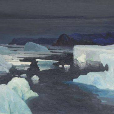 Александр Борисов картина Les Glaciers, mer de Kara Льды Карского моря пейзаж масло
