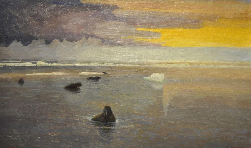 Александр Борисов картина Летняя ночь в Карском море пейзаж масло
