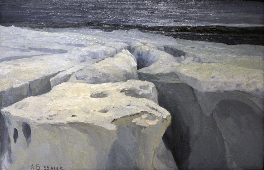 Александр Борисов картина Материковый лёд пейзаж холст масло