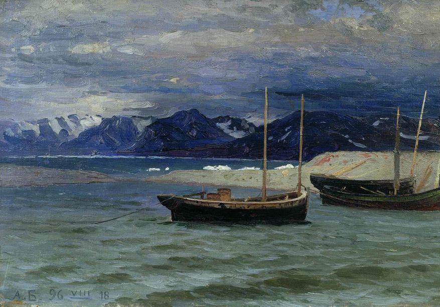 Александр Борисов картина Северный пейзаж пейзаж холст масло
