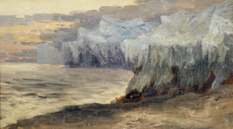 Александр Борисов картина Среди льдов пейзаж холст масло