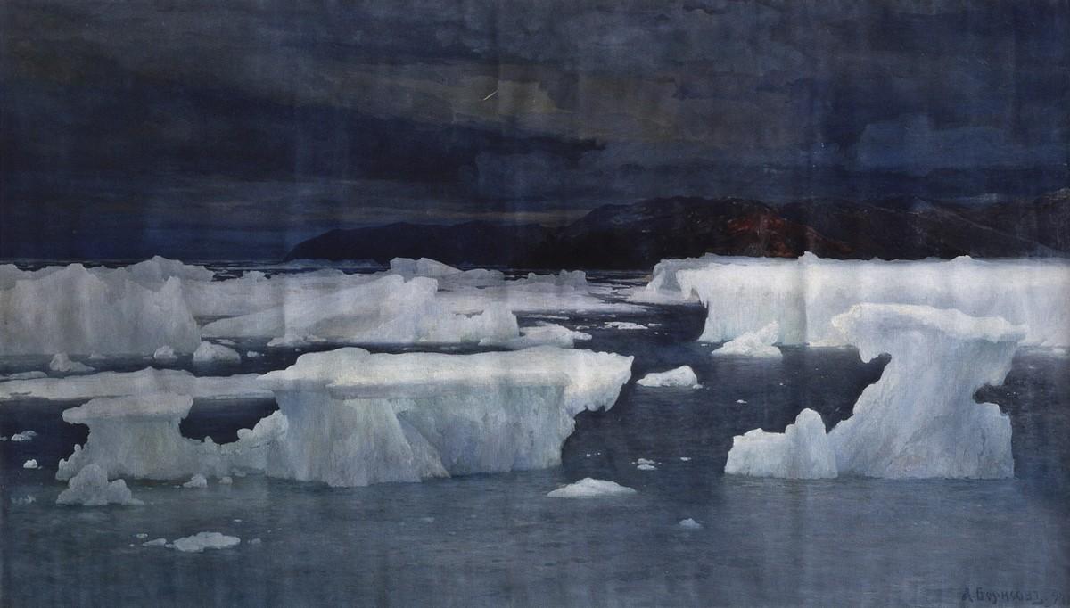 Александр Борисов картина В области вечного льда Лето пейзаж холст масло