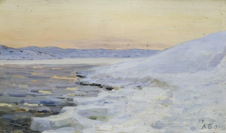 Александр Борисов картина Весенняя ночь на Мурмане пейзаж масло