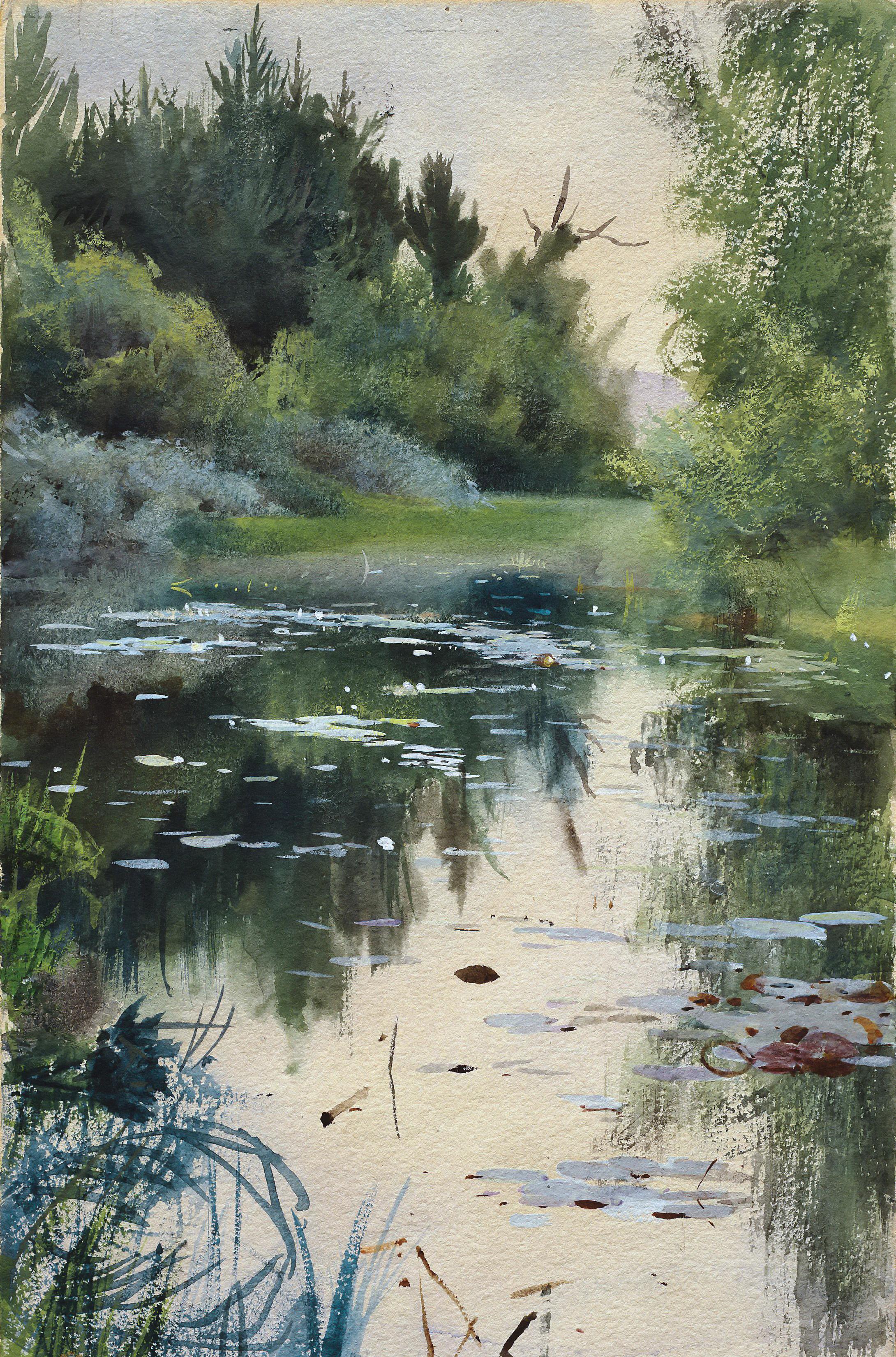Андерс Цорн картина Пейзаж в Муре холст масло