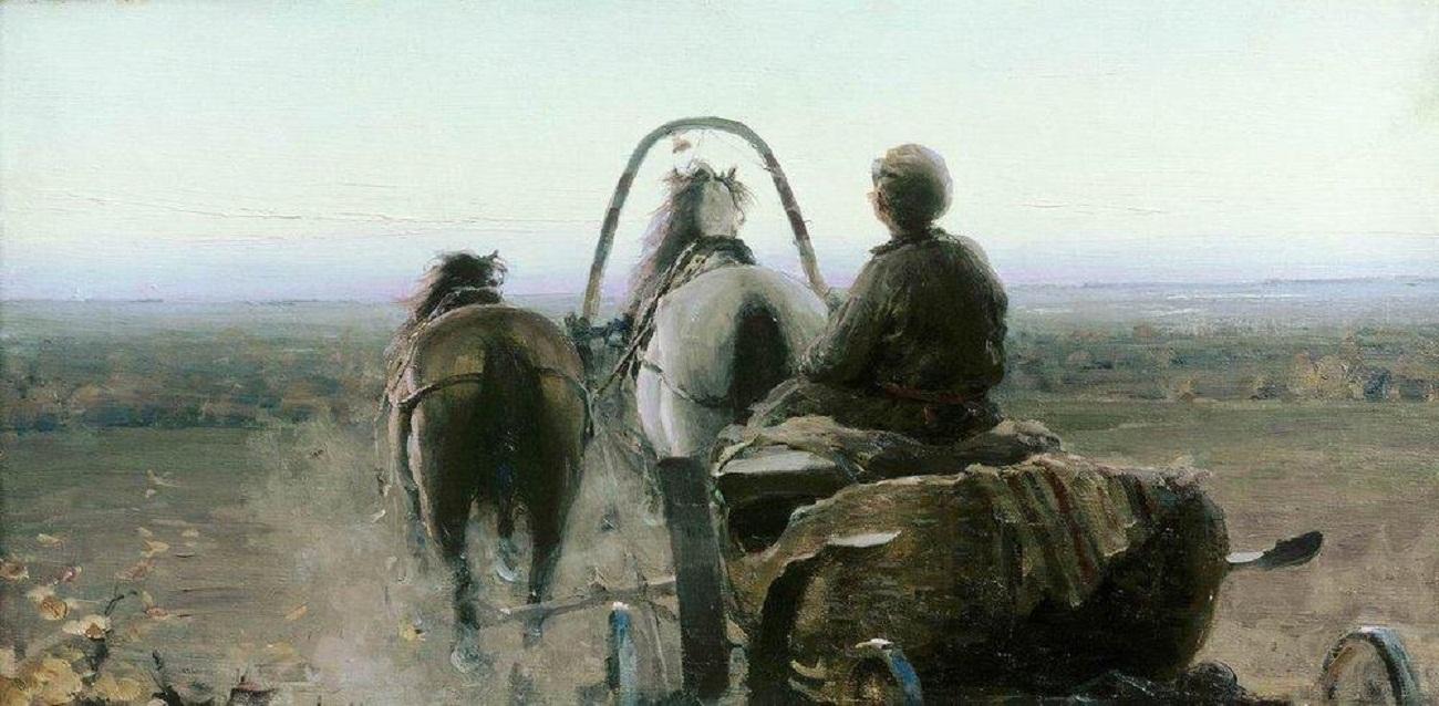 Архипов Абрам картина Обратный путь холст масло