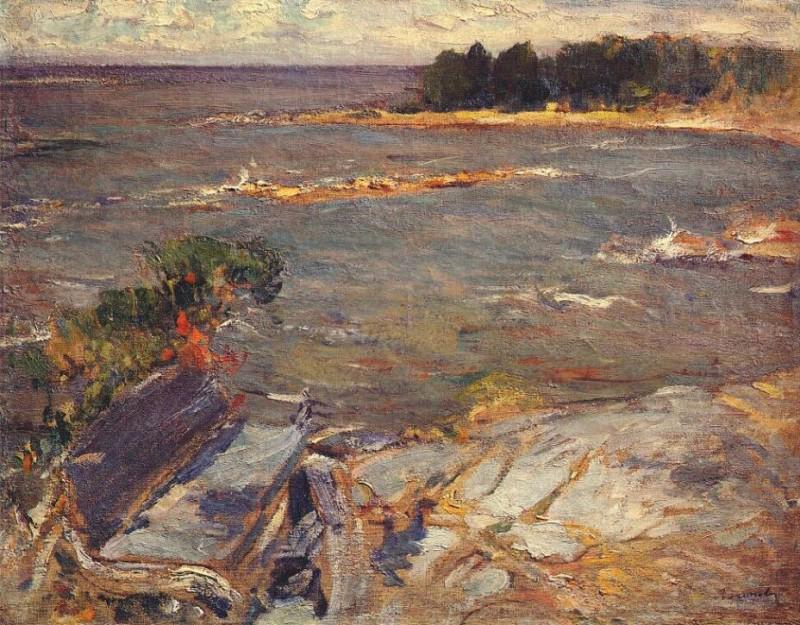 Архипов Абрам картина Северное море пейзаж холст масло