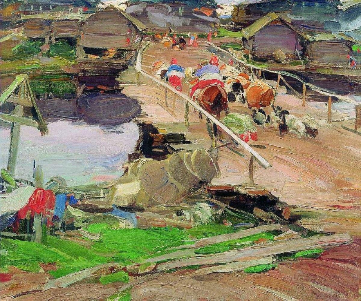 Архипов Абрам картина Утро в деревне холст масло