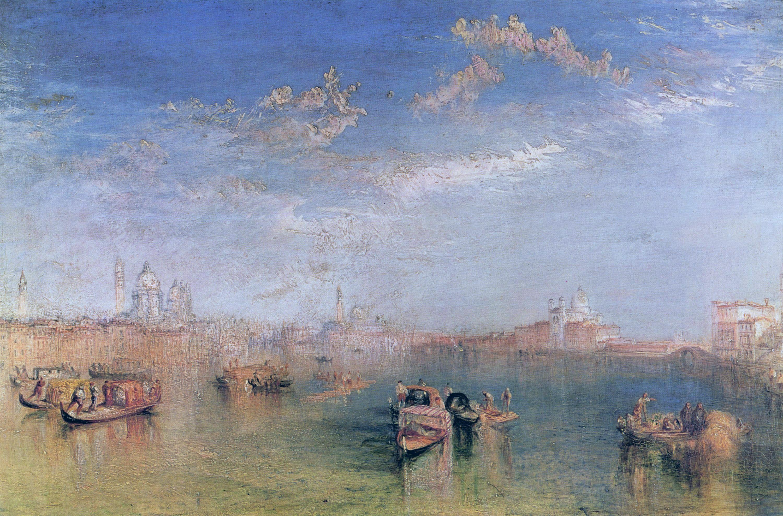 Джозеф Уильям Тернер картина Вид на Джудекку с канала Фузина 1841