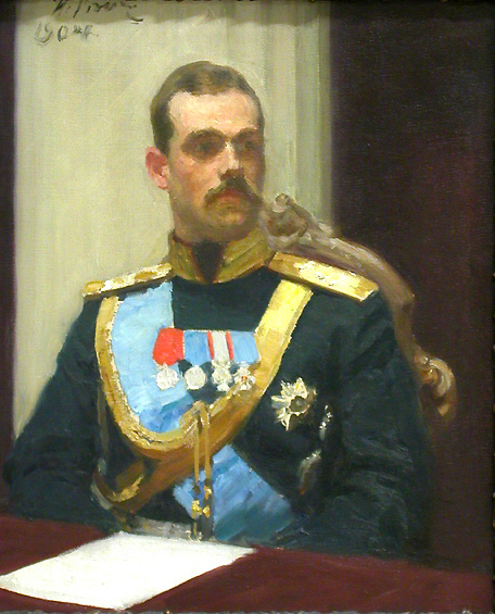 Илья Репин картина Le Grand Duc Michel 1904 портрет холст масло