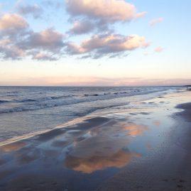 Морской закат ноябрь Юрмала пейзажи природы Сафиуллин