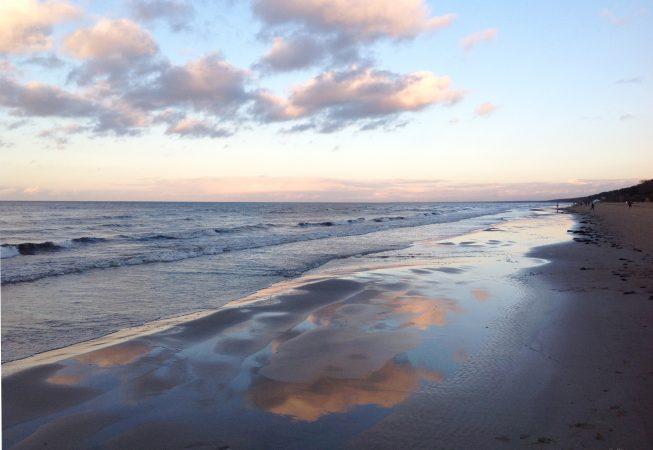 Морской закат в ноябре -Юрмала