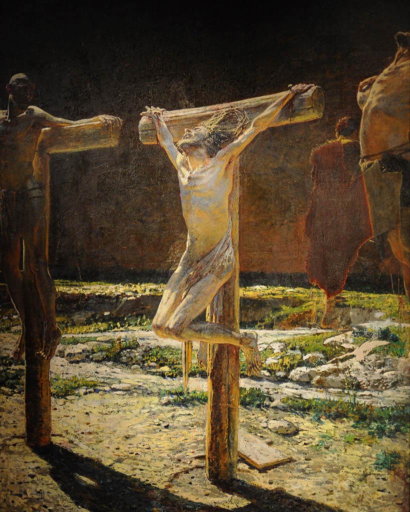 Николай Ге картина Распятие (Le calvaire) 1892 холст масло