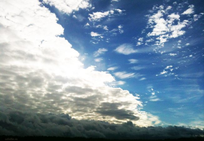 Перистые облака в мае - Прибалтика