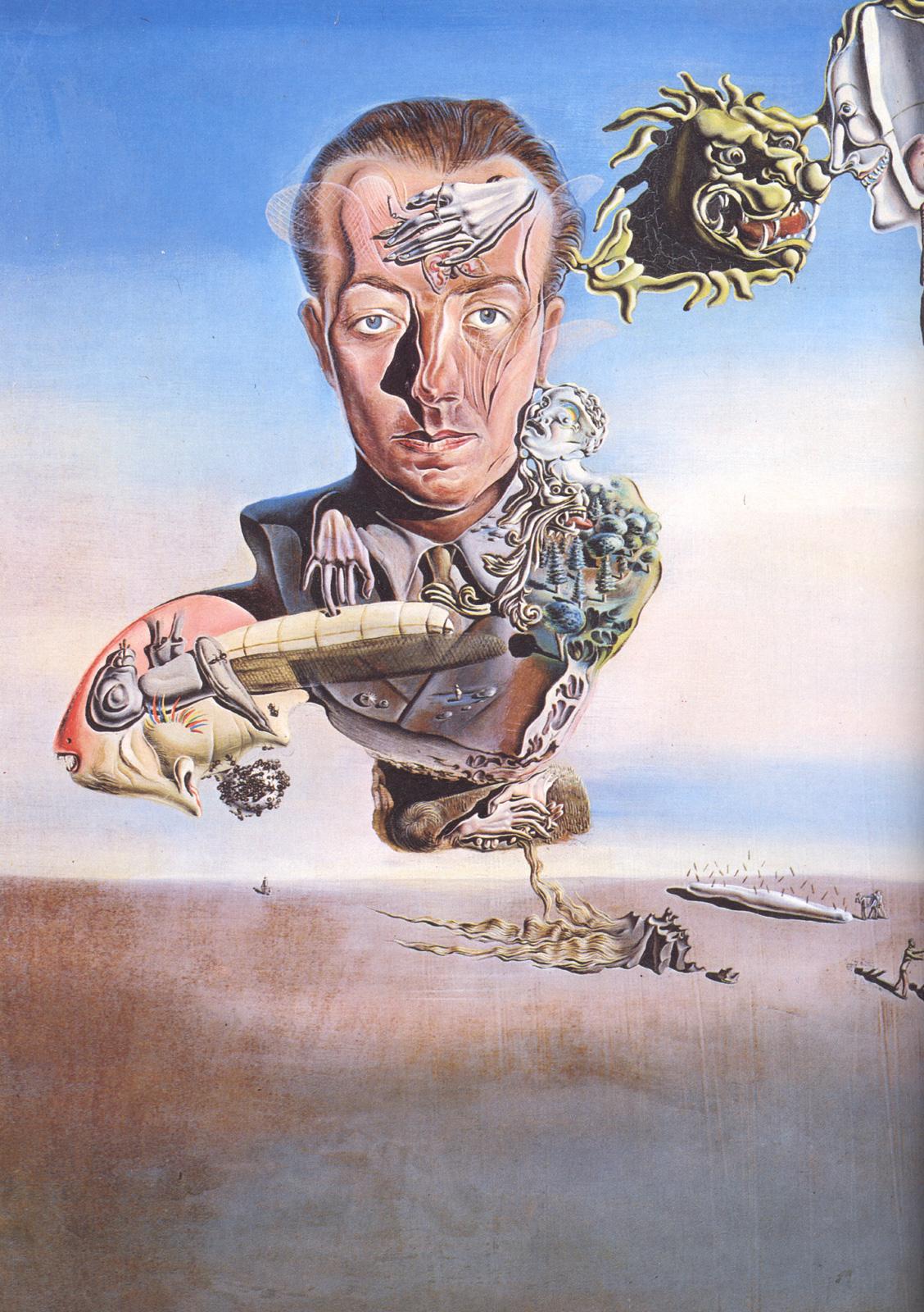 Сальвадор Дали картина Портрет Поля Элюара 1929 холст масло
