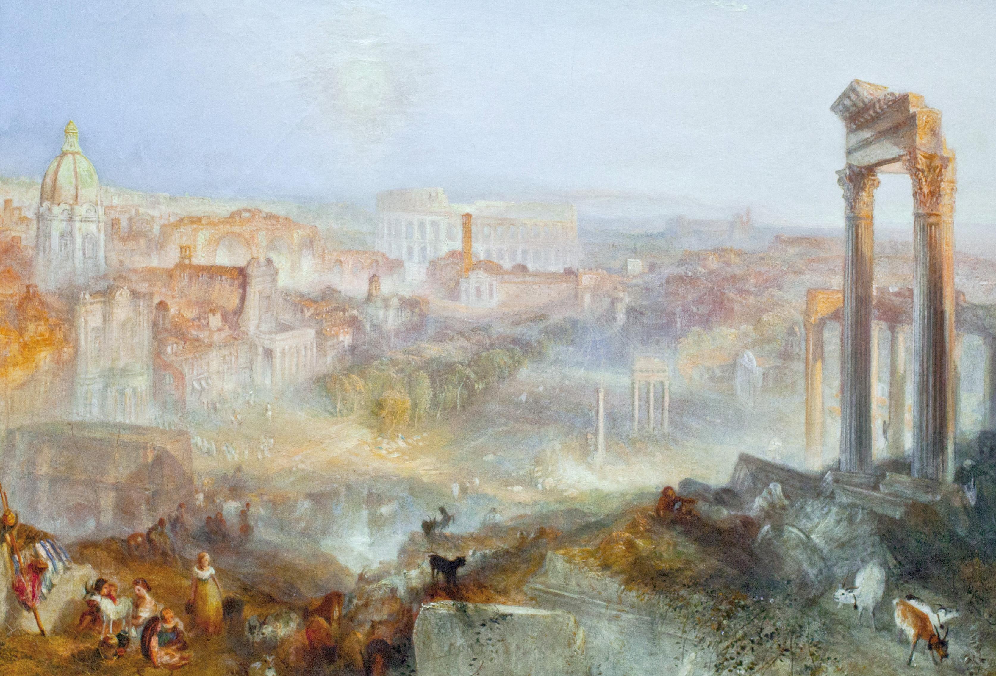 Уильям Тернер картина Современный Рим Кампо-Ваччино холст масло