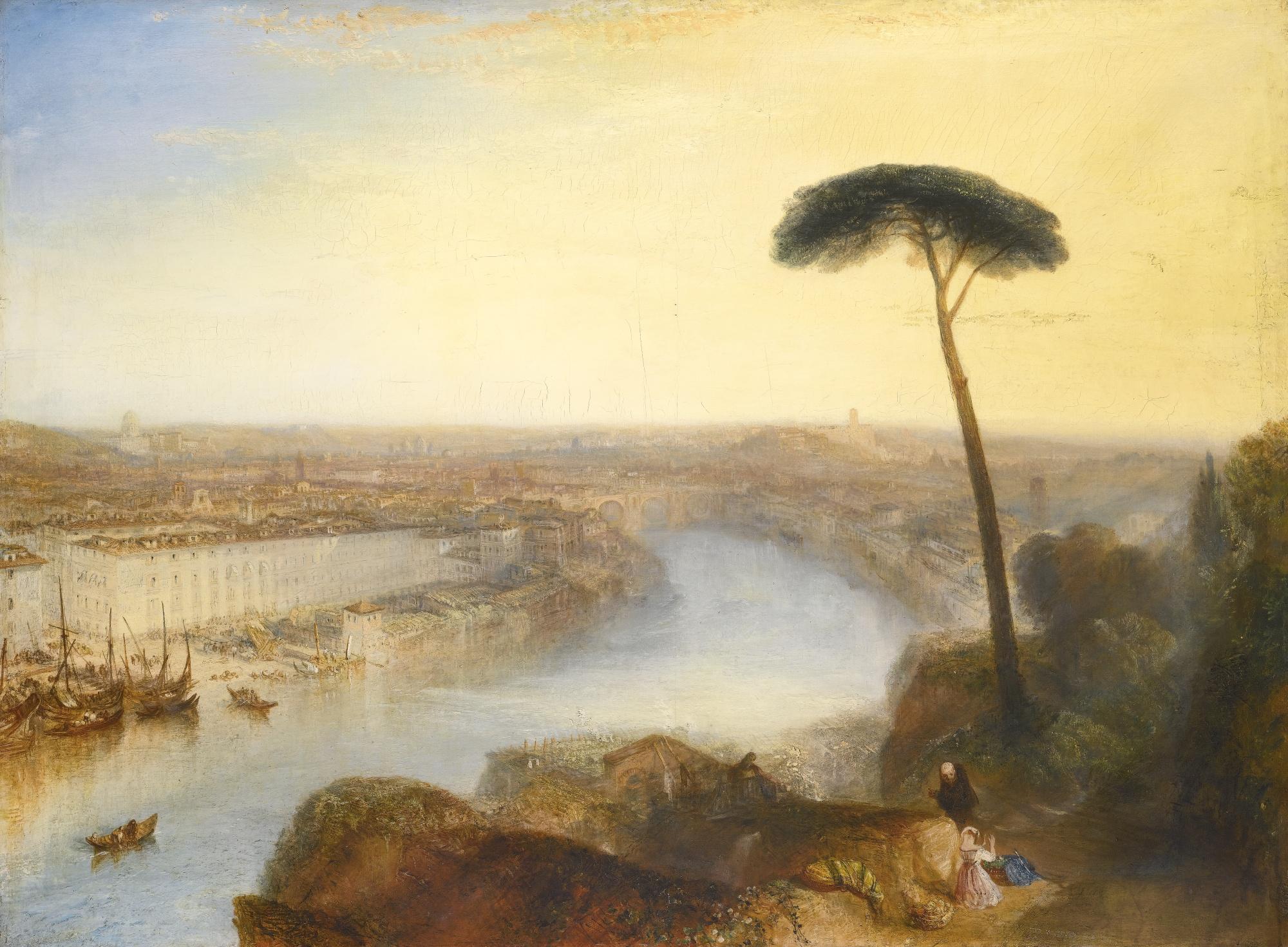 Уильям Тернер картина Вид на Рим с холма Авентин пейзаж