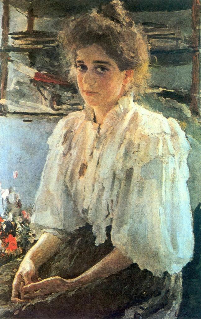 Валентин Серов картина Madame Lwoff 1895 портрет холст масло