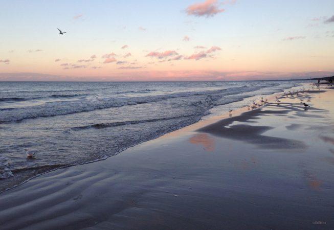 Холодный закат на море в ноябре - Юрмала