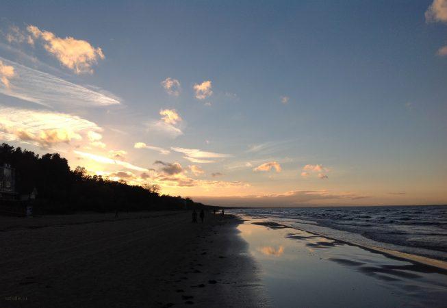 Закат на море. Ноябрь - Юрмала
