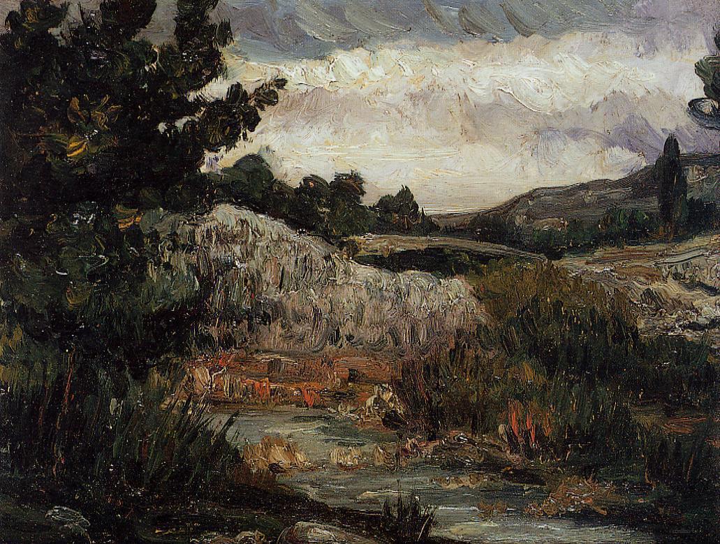 Сезанн картина Гора Сент-Виктуар пейзажи природы Сафиллин 1867
