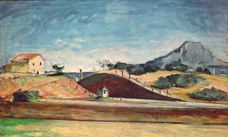 Сезанн картина Montagne Sainte-Victoire 1870 пейзажи природы Сафиуллин