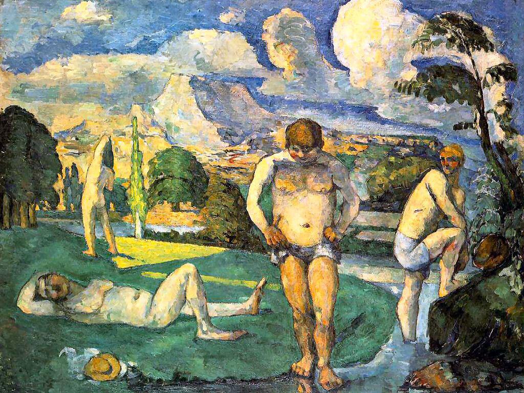 Сезанн картина Bathers at rest пейзажи природы Сафиуллин 1876