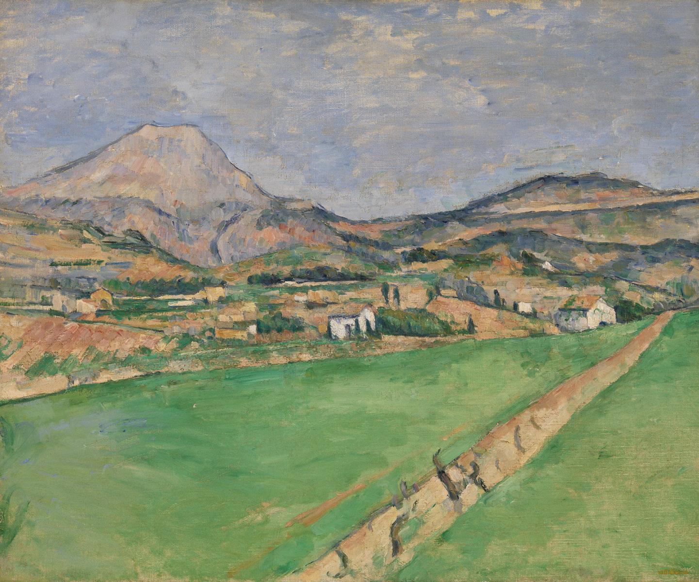 Сезанн картина la montagne Sainte-Victoire 1878 пейзажи природы Сафиуллин