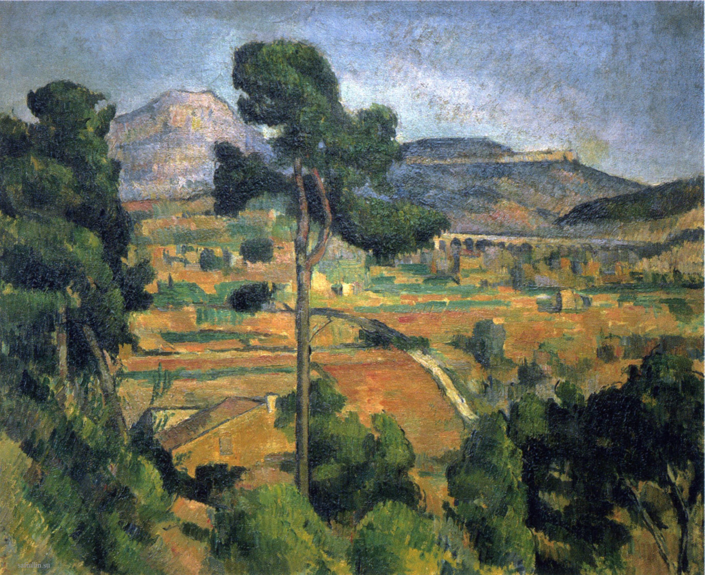 Сезанн Montagne Sainte-Victoire 1885 пейзажи природы Сафиуллин