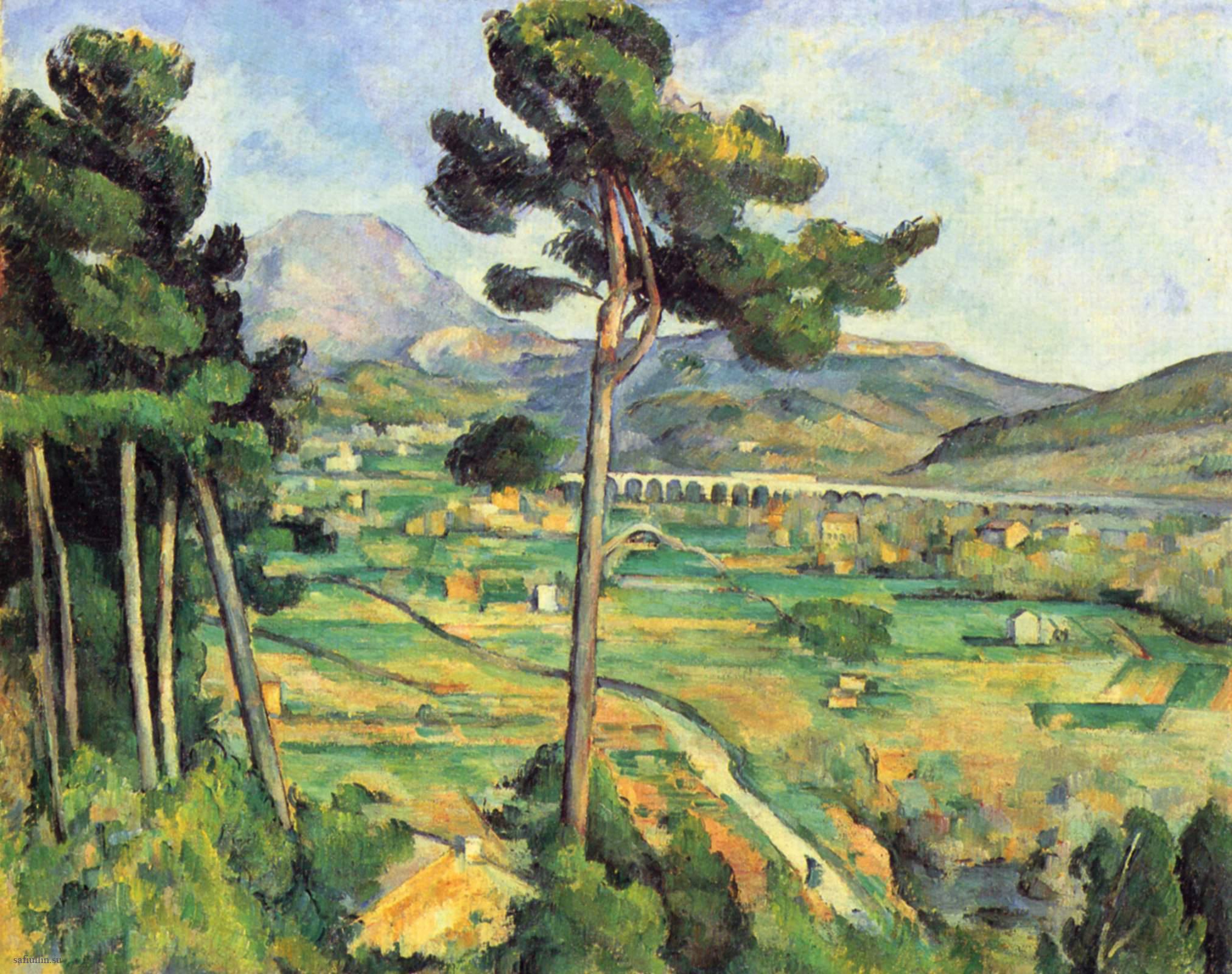 Сезанн картина гора Сент-Виктуар 1882 пейзажи природы Сафиуллин