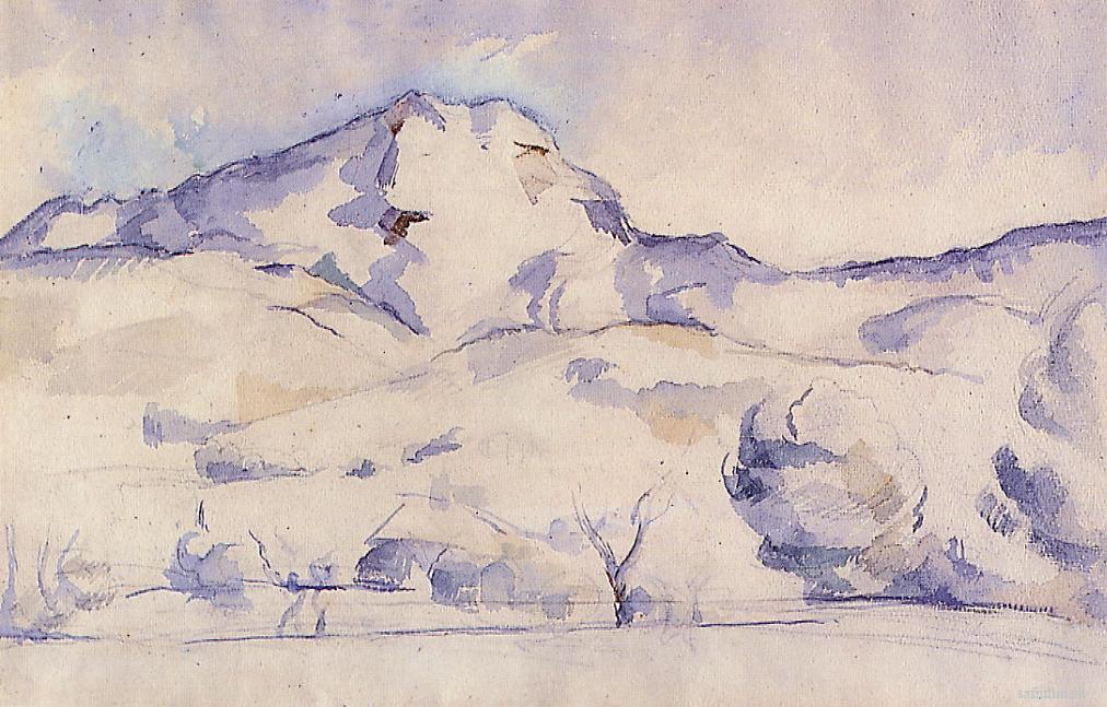 Сезанн рисунок Гора Сент -Виктуар акварель пейзажи природы Сафиуллин