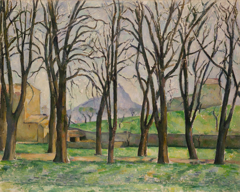 Сезанн картина Sainte-Victoire 1885 пейзажи природы Сафиуллин